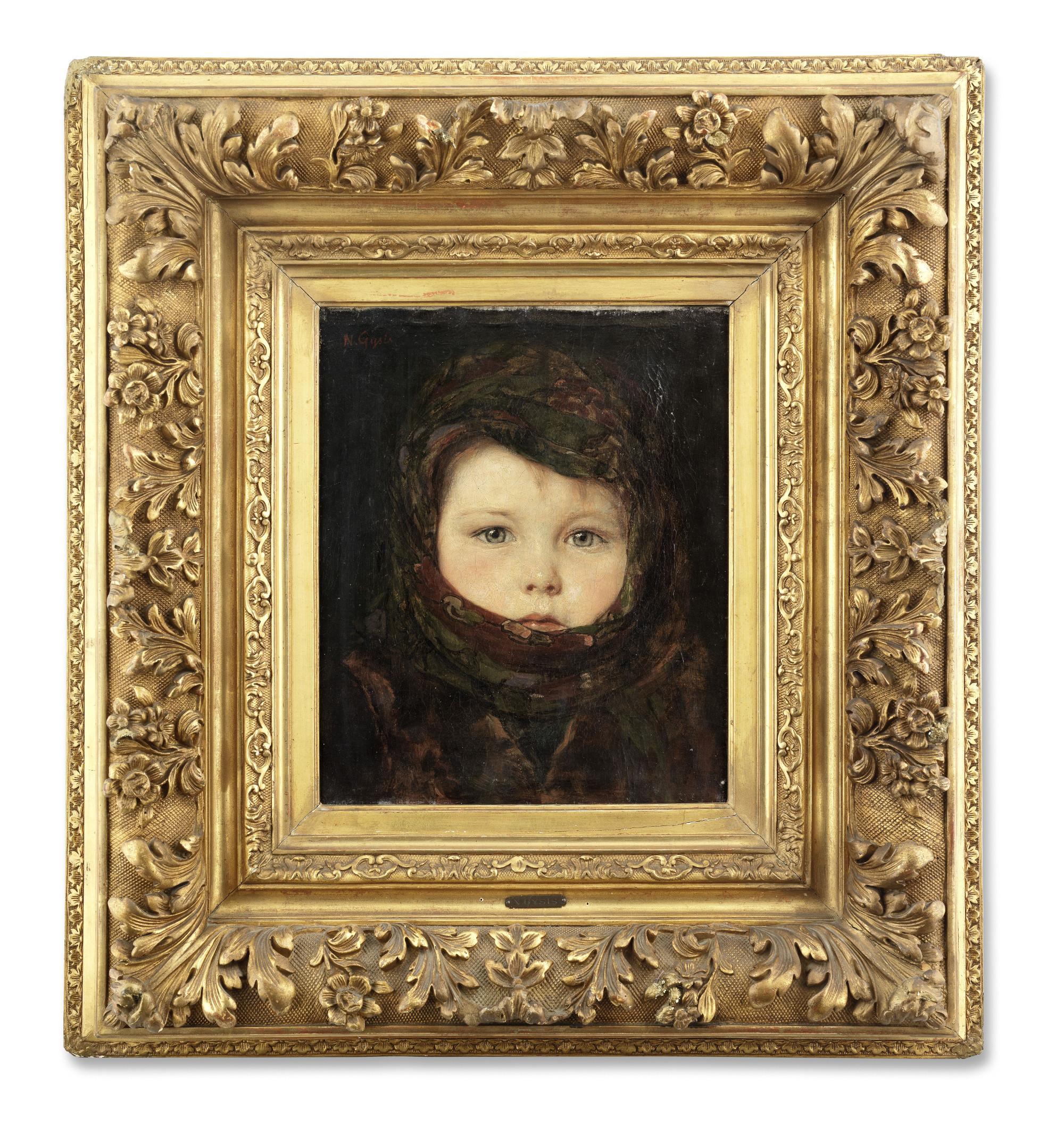 «Πορτραίτο παιδιού» του Νικολάου Γύζη (1842-1901)