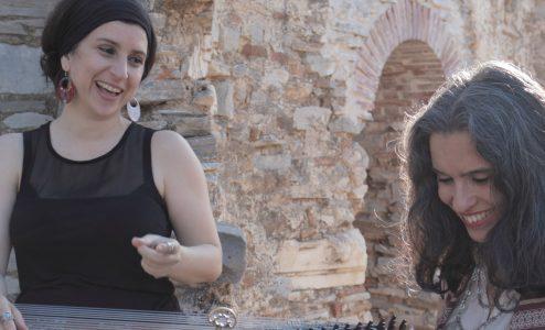 Lamia Bedioui με τη Σοφία Λαμπροπούλου