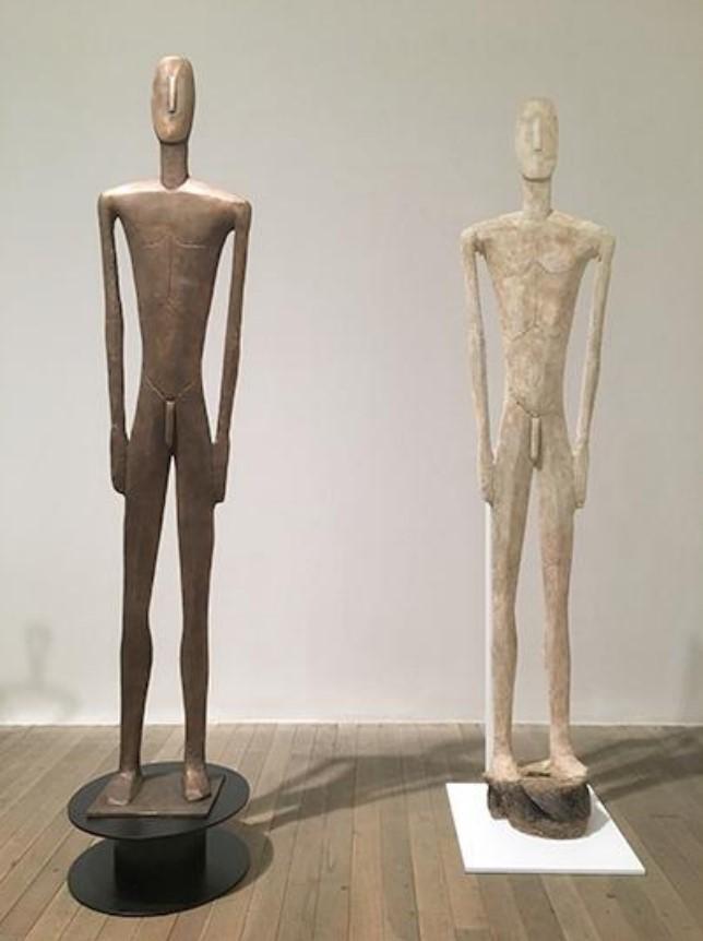 Takis: Bronze Figure & Plaster Figure (1954-1955), Tate, London.