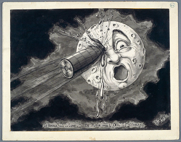 Square in the Eye, preparatory drawing for the film A Trip to the Moon (Le Voyage dans la lune, 1902),1930 Marie-Georges-Jean Méliès