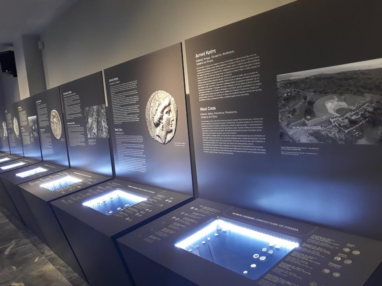 Άποψη από την έκθεση στο Μουσείο αρχαίας Ελεύθερνας στην Κρήτη.