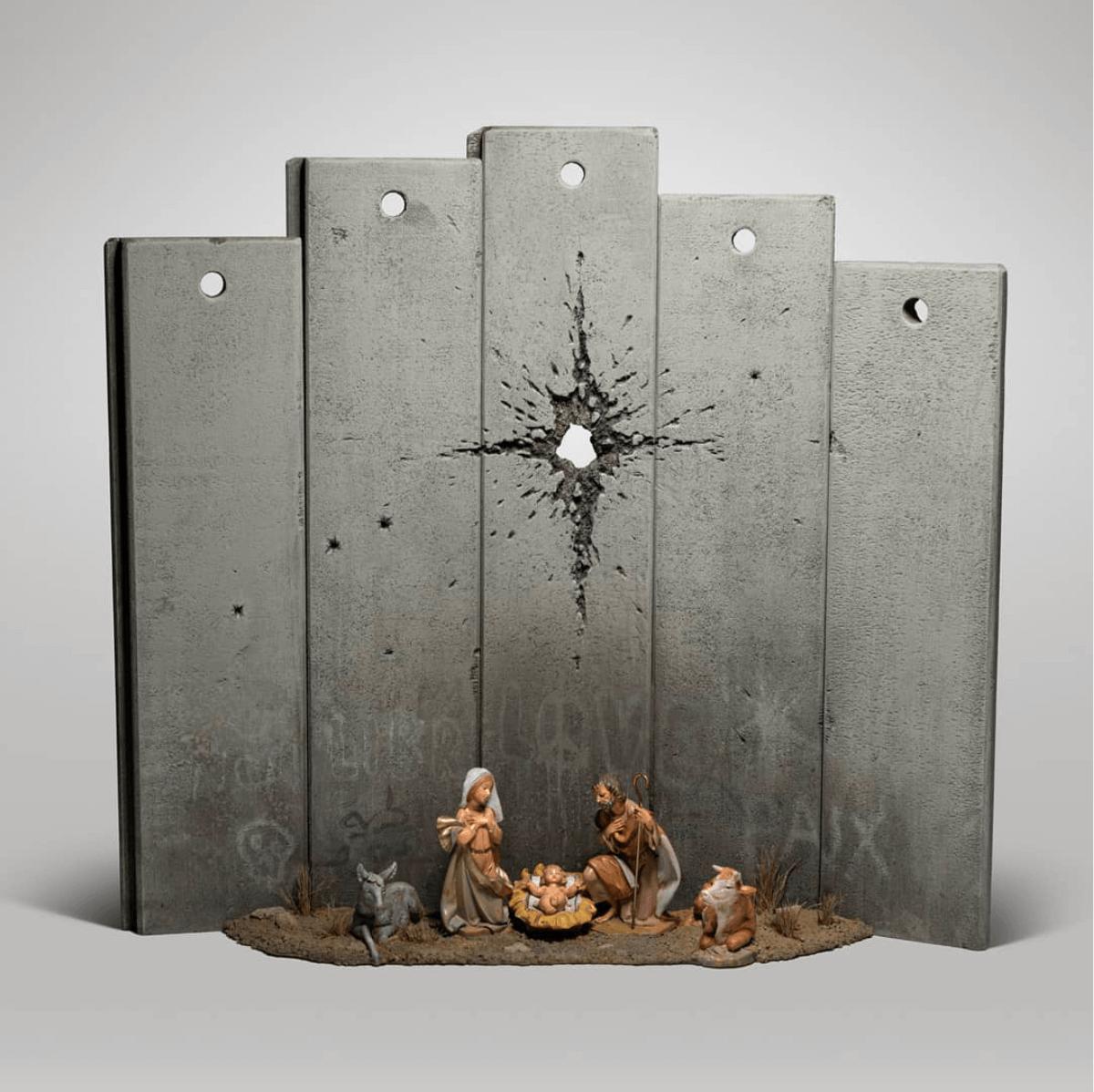 Μια φάτνη με μια τρύπα από σφαίρα, το νέο έργο του Banksy στη Βηθλεέμ