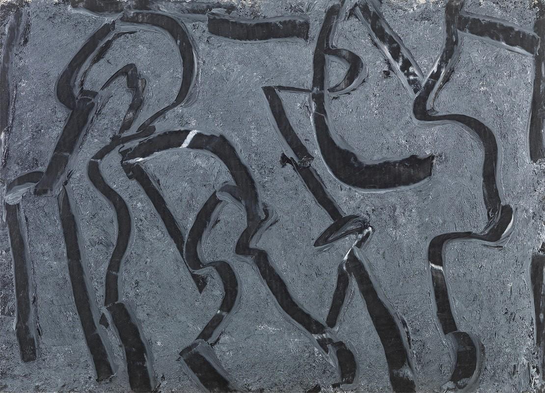 Μάκης Θεοφυλακτόπουλος, Χωρίς Τίτλο, 2019, λάδι σε χαρτί, 70×50