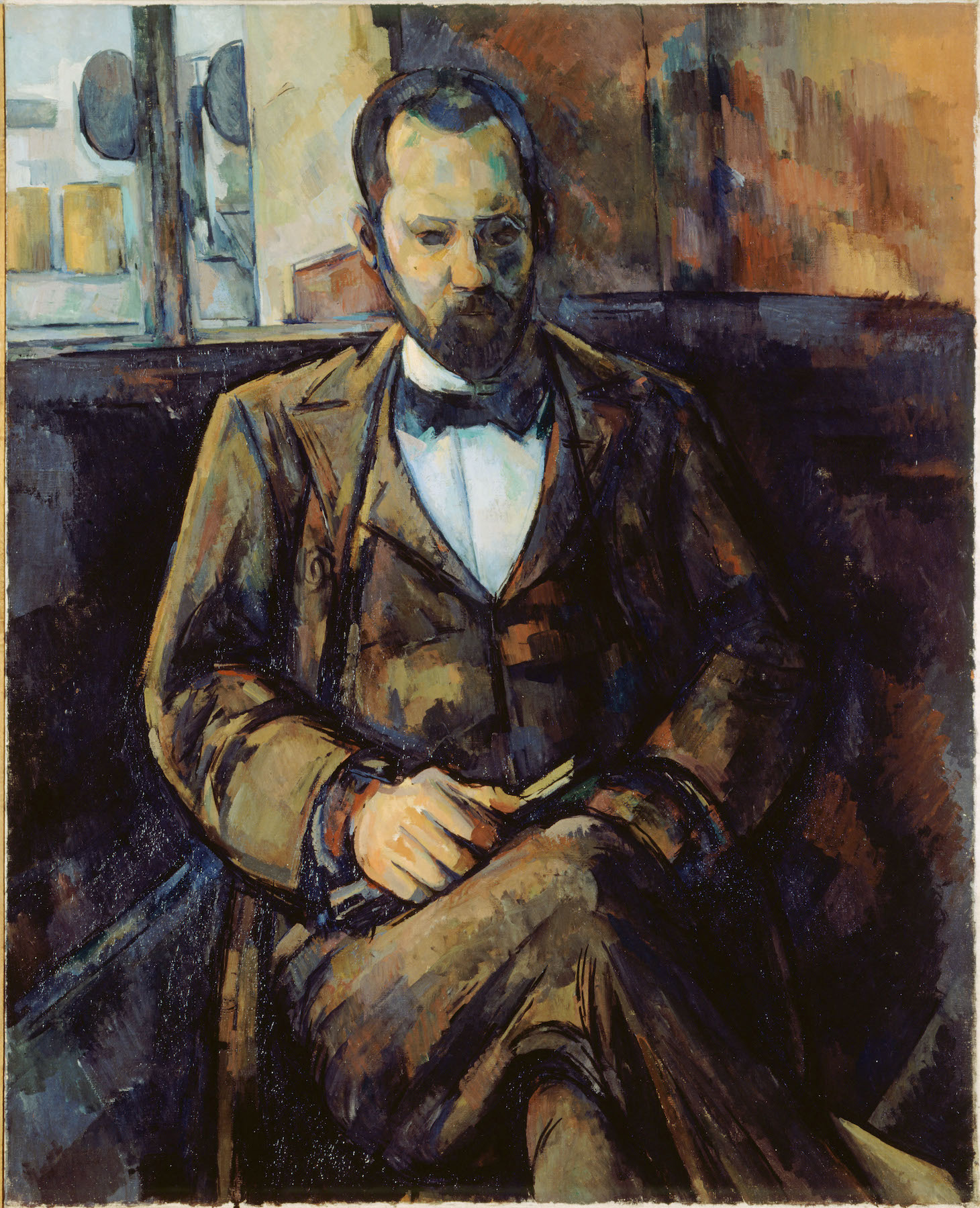 """Portrait of Ambroise Vollard"" by Paul Cézanne (1899), oil on canvas, part of the collection at Petit Palais, Paris"