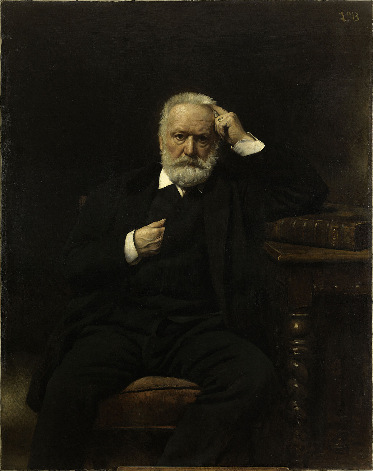 """Portrait of Mr. Victor Hugo"" by Léon Bonnat (1879), oil on canvas, part of the collection at Maison de Victor Hugo"