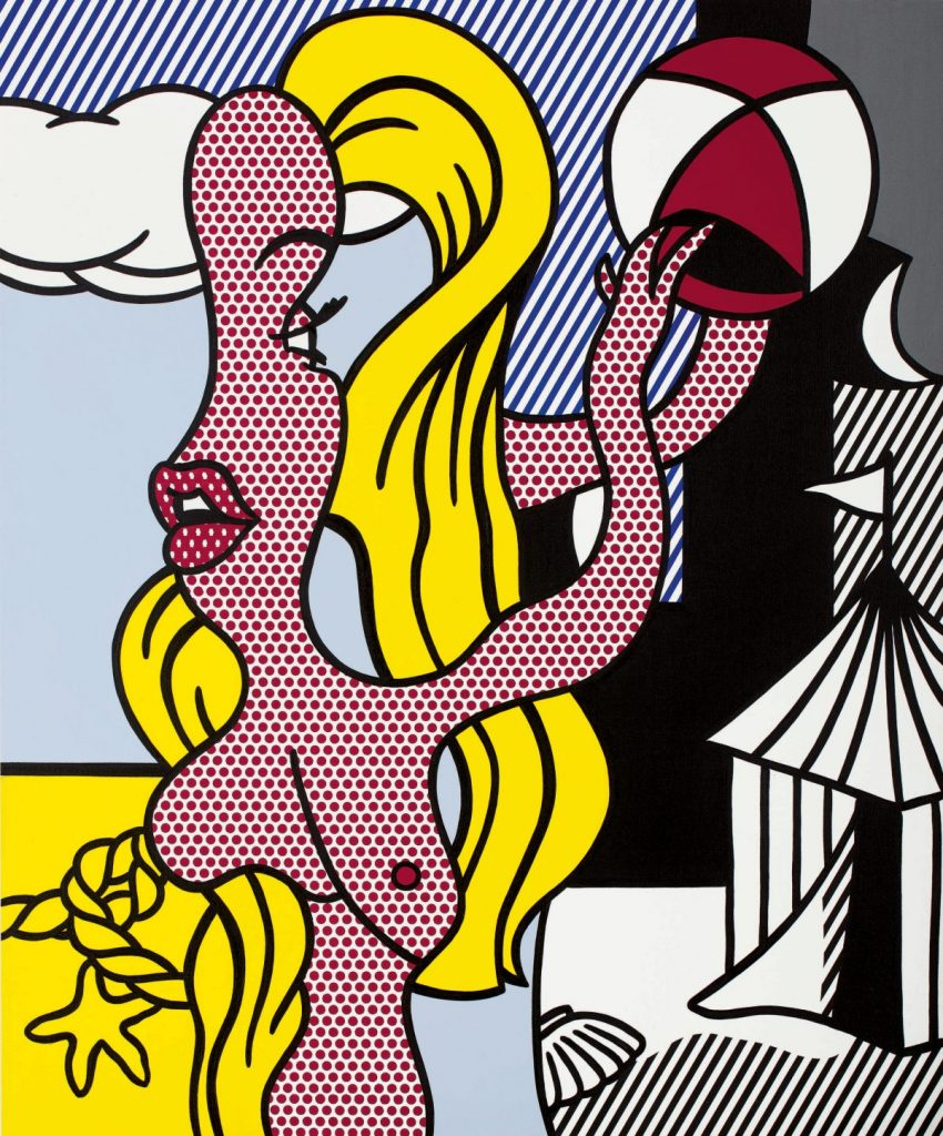Roy Lichtenstein, Girl with Beach Ball II, 1977