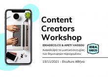 Content Creators Workshop by IDEADEC